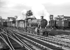 Re-scanned and tweaked in photoshop. Steam Railway, 23 November, British Rail, Great Western, Hill Station, Steam Engine, Steam Locomotive, Great Britain, Birmingham