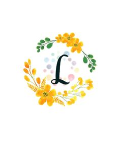 Monogram L Happy Yellow Flowers by floralmonogram Smile Wallpaper, Cute Wallpaper For Phone, Cute Wallpaper Backgrounds, Cute Wallpapers, Monogram Wallpaper, Alphabet Wallpaper, Monogram Shirts, Monogram Letters, Stylish Alphabets
