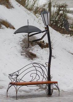 I don't care for the park bench.but the rest is sooo cute I don't care for the park bench.but the rest is sooo cute The post I don't care for the park bench.but the rest is sooo cute appeared first on Garden Diy. Yard Art, Metal Art, Art Nouveau, Garden Design, Street Art, Landscape, Park, Cool Stuff, Decoration