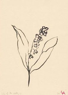 Lily of the Valley Floral Painting by Lucy Auge on Etsy Gravure Illustration, Illustration Art, Food Illustrations, Arte Sketchbook, Exhibition Poster, Lily Of The Valley, Looks Cool, Art Inspo, Line Art