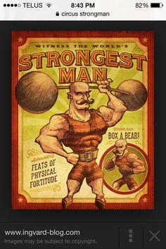 Strongman at the Sideshow Old Circus, Circus Art, Circus Theme, Circus Birthday, Birthday Parties, Creepy Carnival, Carnival Rides, Carnival Costumes, Circus Strongman
