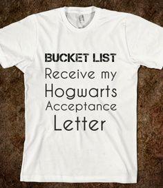 Bucket List-Hogwarts