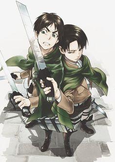 Eren & Rivaille   Shingeki no Kyojin #anime: