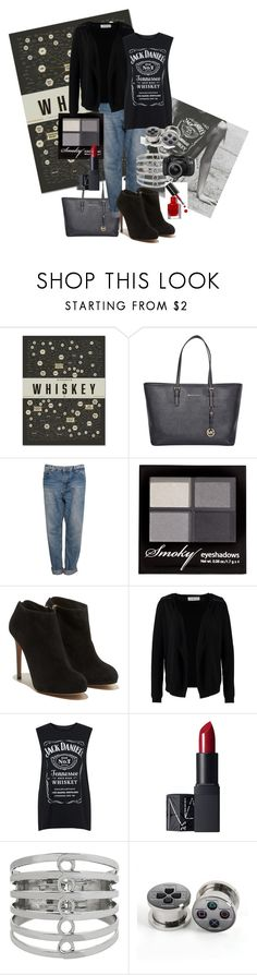 """whiskey...."" by m-chiara ❤ liked on Polyvore featuring Pop Chart Lab, Michael Kors, Pull&Bear, H&M, Salvatore Ferragamo, Vero Moda, Tee and Cake, NARS Cosmetics, Steve Madden and Bobbi Brown Cosmetics"