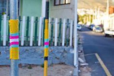 Yarn bombing in Cape Town