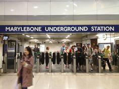 Ticket barriers, Marylebone Underground station