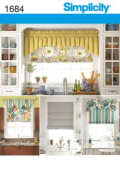 Purchase the Simplicity 1684 Roman Shades and Valances sewing pattern and read its pattern reviews. Find other Home Dec sewing patterns.