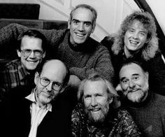 Clockwise from top left: Richard Hunt, Steve Whitmire, Jerry Nelson, Jim Henson, Frank Oz and Dave Goelz