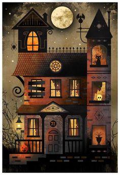 93 Days Until Halloween — vintage-halloween: Bryan Fyffe Retro Halloween, Spooky Halloween, Halloween Painting, Holidays Halloween, Halloween Crafts, Happy Halloween, Halloween Decorations, Trendy Halloween, Halloween Costumes