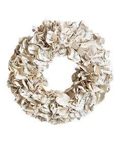 Loving this Natural Vintage Paper Wreath on #zulily! #zulilyfinds
