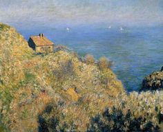 La maison du pêcheur, Varengeville - Claude Monet, 1882 | Collection Boijmans