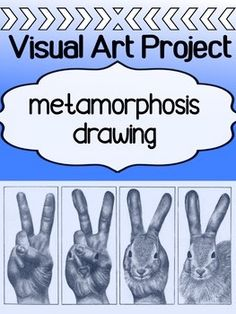 This is always a popular drawing project for our junior grades in high school because it allows for so much creativity and it's a real challenge! It asks students to create a METAMORPHOSIS drawing that takes one object, and transforms it into another.