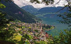 Gersau, mountain, summer, Lake Lucerne, amazing nature, Switzerland
