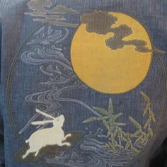 Fox and Bunny Store Rabbit Book, Rabbit Art, Japanese Waves, Japanese Art, Asian Moon, Rabbit Accessories, White Rabbits, Bunny Rabbits, Childhood Images