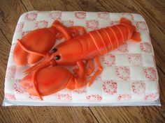 Birthday Cakes « Dad Makes Cakes - Brian Judd Cake Decorating Lobster Party, Lobster Cake, Shrimp And Lobster, Red Lobster, Fancy Cakes, Cute Cakes, Yummy Cakes, Fondant Figures, Fondant Cakes