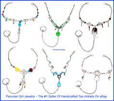 20 Toe Ring Anklets Peru Ankle Bracelets Body Jewelry   eBay