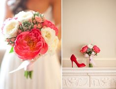 Peony Flower Arrangements, Wedding Flowers Photos by Rockrose Floral Design