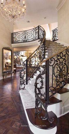 Spanish style homes – Mediterranean Home Decor Balustrade Balcon, Balustrades, Grand Staircase, Staircase Design, Staircase Ideas, Style At Home, Italian Style Home, Italian Home Decor, Spanish Style Homes
