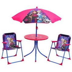 Set Includes 2 Chairs A Table And Parasol To Protect From The Sun Get Your Kids Dining Alfresco With Their Favourite Disney