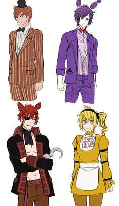 Human fnaf characters look so sexy, tho (*.*)                                                                 \- -\                                                                   /\