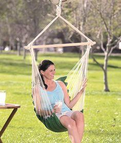Swinging Chair Hammock for backyard. Yes please! $15.95 at Lakeside take-it-outside
