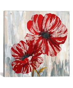 Take a look at this Red Poppies Wrapped Canvas today!