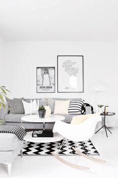 Grey Black White Living Room Greyliving Room Interiorliving Room Ideassmall