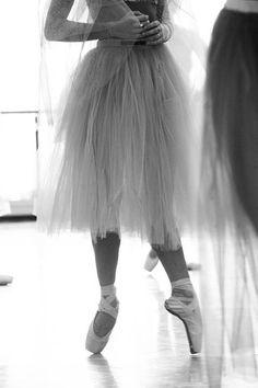 Beautiful angle of ballerina