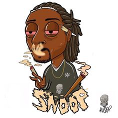 "1,849 Me gusta, 45 comentarios - Marco Graziano (@muso4.20) en Instagram: ""Snoop Dogg Cartoon | @snoopdogg"""