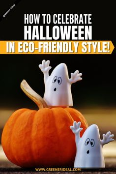 Halloween is almost here, and for those of you who plan on celebrating the spooky holiday, you've probably started putting together a few ideas for costumes, parties, and treats. And while we only want you to have the best of fun on Halloween, it's not too late to consider a few greener alternatives. Check out these Tips & Tricks to Celebrate Halloween in Eco-Friendly Style! #Halloween #Treat #Trick #TrickorTreat #Ecofriendly #GreenLivingTips #GoGreen #Sustainable #holiday #Celebration