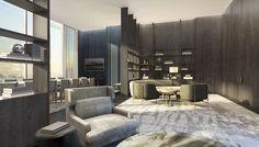 Yabu Pushelberg, Hotel Lobby, Lounge, Living Room, Interior Design, The Originals, Architecture, Modern, Table