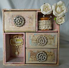 Through Emilys Eyes: Shabby Shadow Box Canvas