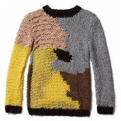 brigitte.de: Intarsia Sweater, free pattern in German