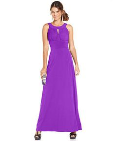 Sangria Sleeveless Keyhole Gown - Dresses - Women - Macy's (multiple color options)