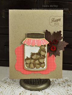 My Favorite Things: My Birthday Boy (& August Papertrey Release Projects) How To Make Scrapbook, Scrapbook Cards, Scrapbooking, Mason Jar Cards, Mason Jars, Canning Jars, Fall Cards, Holiday Cards, Diy Cards