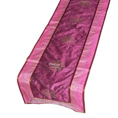 Christmas Gift Table Runner Silk India Accessory, Pink