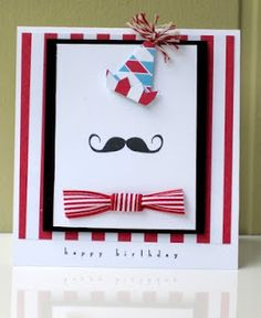 Mustache birthday party for Christian's birthday, hmmm. Homemade Birthday Cards, Birthday Cards For Boys, Boy Birthday Parties, 4th Birthday, Birthday Cakes, Birthday Ideas, Lego Invitation, Invite, Mustache Cards