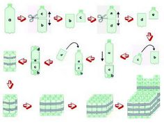 20 Exciting and Inspiring Plastic Bottle Recycling - Her Crochet Reuse Plastic Bottles, Plastic Bottle Crafts, Diy Bottle, Recycled Bottles, Recycled Crafts, Recycled Furniture, Diy Furniture, Reuse Recycle, Recycling
