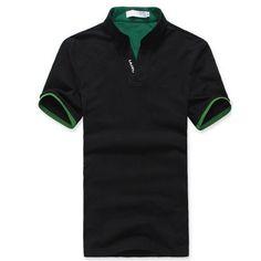 Hombres Camiseta Clásica Camisa de Polo de la Solapa del Color Sólido de Los Hombres Camisa de Manga Corta Camiseta de La Camiseta