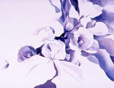 Shadows in Watercolour starting with a violet underpainting.