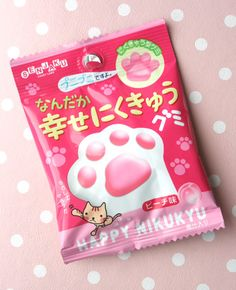 Japan Japanese Kawaii Cute Candy Asian Paw Kitty Cat Pink   Get internaional candy monthly at http://bocandy.com : )
