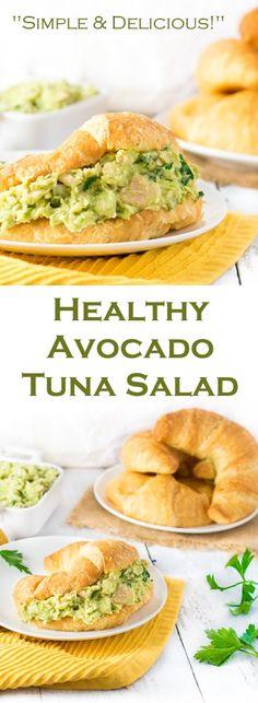 Healthy Avocado Tuna Salad Recipe