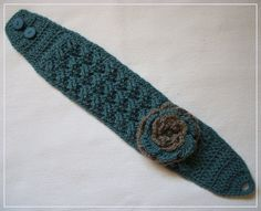 Pattern: Rolling Waves Headband/Ear Warmer w/Spiral Rose Bonnet Crochet, Knit Crochet, Crochet Hats, Flower Patterns, Crochet Patterns, Crochet Instructions, Basic Crochet Stitches, Ear Warmers, Crochet Clothes