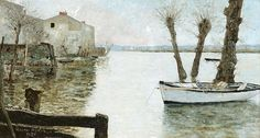 "maufra maxime the flood 1886 sotheby (from <a href=""http://www.oldpainters.org/picture.php?/30166/category/13215""></a>)"