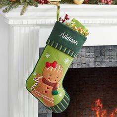 Gingerbread Girl-Christmas Family Stocking