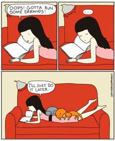Click to see 14 hilarious comics of what life is like with cats.