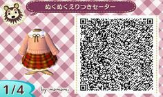 A large collection of qr codes for Animal Crossing New Leaf ♪ Find your hapiness! Animal Crossing 3ds, Animal Crossing Qr Codes Clothes, Animal Crossing Pocket Camp, Motif Acnl, Ac New Leaf, Cute Games, Honey Bunny, My Animal, Images