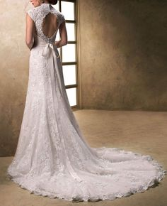 Real Photo Custom Made 2016 Trouwjurken Sexy V-Hals Cap Mouwen Kant En Tulle Met Satin Bridal Gown Vestido De Niova