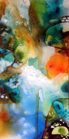 Tracy Verdugo. 2014. Deep Rhapsody (panel 2 of triptych). sold. http://artoftracyverdugo.blogspot.com