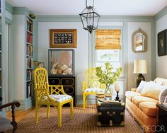 I just love the combination of the Chinoiserie, the rattan, and the vintage peices - for some reason I think of Venice.